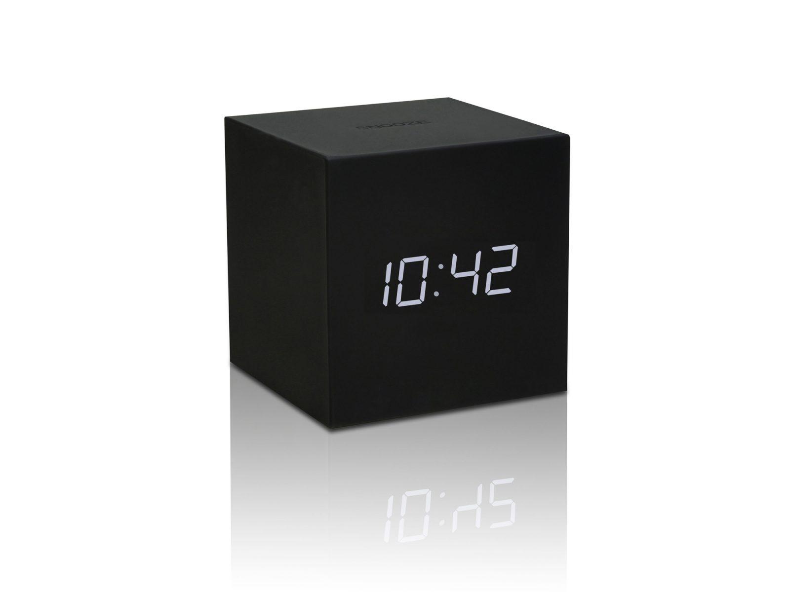 gingko-gravity-cube-click-clock-black